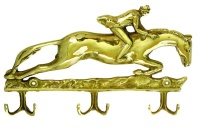 Euro Brass EuroBrass - EB3195 Key Rack Horse and Jocky Brass Photo