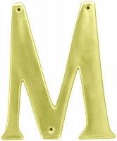 Euro Brass EuroBrass - EB8118 - Letter M 150mm - Brass Photo
