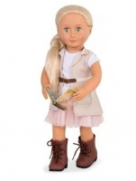 "Our Generation Deluxe Doll With Book Naya 18"" Blonde Photo"