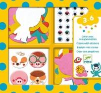 Djeco Stickers Crafts - I love animals Photo