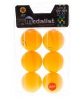 Medalist 1 Star Orange Table Tennis Balls - 6 x Pack Photo