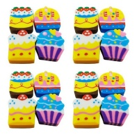 Erasers Cup Cake Bulk Pack set of 12 Photo