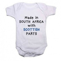 Qtees Africa Made in SA with Scottish Parts Baby Grow Photo