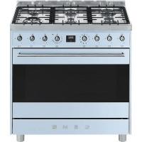 Smeg 90cm Pastel Blue Symphony Cooker & Multifunction Oven - C9MAAZSSA9 Photo