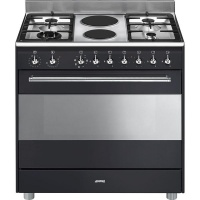 Smeg 90cm Anthracite Concert Cooker & Multifunction Oven - SSA92MAA9 Photo