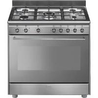 Smeg 90cm Full Gas Stainless Steel Cooker - SSA91GGX9 Photo