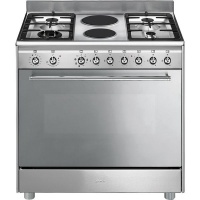 Smeg 90cm Gas/Electric Stainless Steel Cooker - SSA92MAX9 Photo