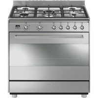 Smeg 90cm Gas/Electric Stainless Steel Cooker - SSA91MAX9 Photo