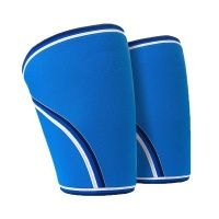 1 Pair 7mm Neoprene Knees Sleeves Support for Training - Blue Photo
