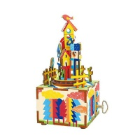 Robotime Castle in the Sky Musical Box - 3D Wooden Puzzle Gift Photo