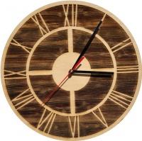 Wall Clock-Engraved Hardwood - Frame on Wood Photo