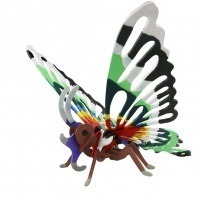 Robotime 3D Wooden Puzzle With Paints - Butterfly Photo