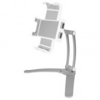 Macally Aluminium Wall Mount & Counter Top Stand For iPad/Tablet - Silver Photo