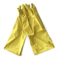 Latex Household Gloves Superior Yellow -Pack of 240 Pairs Photo