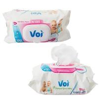 Bulk Pack x 6 Baby Wet-wipes 120Piece 16x19cm Honeycomb Photo