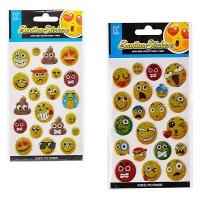 Bulk Pack x 6 Sticker Puffy Emotion With Glitter Photo