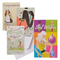 Bulk Pack x 8 Card & Envelope Giant Girl 24x36cm Photo