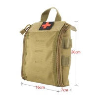 Tactical IFAK Medical Molle Pouch - Khaki Photo