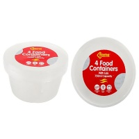 Bulk Pack x 6 Container Microwave & Freezer Save 4-Pack Round 750ml Photo