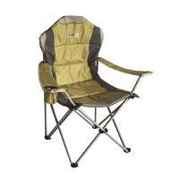 Afritrail Roan Padded 130kg Back Chair - Mustard Photo