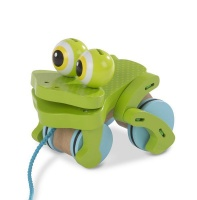 Melissa & Doug First Play Frolicking Frog Pull Toy Photo