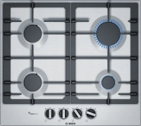 Bosch - 60cm Stainless Steel Gas Hob - Silver Photo