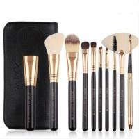 Makeup Brush Set By Zoreya - 10 Piece Set With Bag Photo