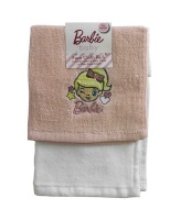 Barbie - Pink Face Cloth - Set Of 2 Photo