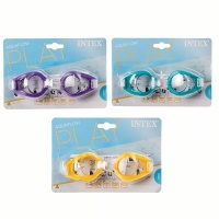 Bulk Pack x 3 Intex Swim Goggles Suitable For Ages 3 To 10 Years Photo