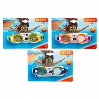 Bulk Pack x 3 Intex Swim Goggles - Junior Photo