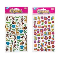 Bulk Pack x 6 Crystal Stickers - 50 Pieces Per Pack Photo