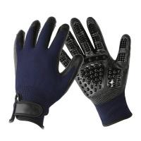 1 Pair Pet Grooming Gloves - Blue Photo