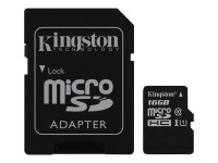 Kingston 64GB microSDHC Canvas Select 80R CL10 UHS-I Card with SD Adapter Photo