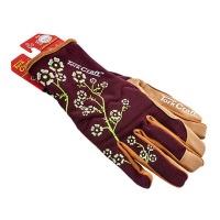 Tork Craft Ladies Slim Fit Garden Gloves Maroon Photo