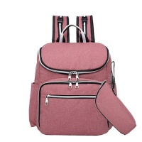 Fashion Baby Diaper Bag with USB Charging Port-Pink Photo