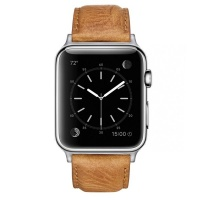 Apple Colton James Leather Strap for Silver 38mm Watch - Tan Photo