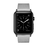 Apple Colton James Mesh Strap for Black/Space Grey 38mm Watch - Silver Photo
