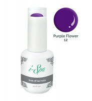 15ml i-Spa Gel Polish - Purple Flower 12 Photo