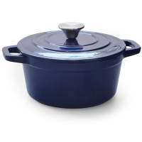 Eetrite 21.5cm Cast Iron Casserole 2.6 Litre Blue Photo