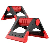 1 Pair Foldable Push-up Support - Red Photo