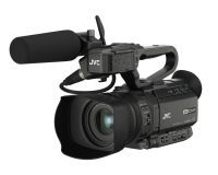 JVC GY-HM250E 4K Camera with Live Streaming & Built-in Overlay Graphics Photo