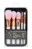 Makeup Brushes in Keepsake Tin White with Rose Gold Photo