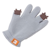 Cartoon Pet Grooming Glove - Gray Photo