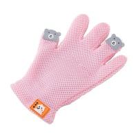 Cartoon Pet Grooming Glove - Pink Photo