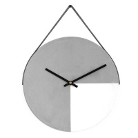 Cement Wall Clock - Charcoal and White Photo