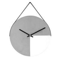 Cement Wall Clock - White Photo