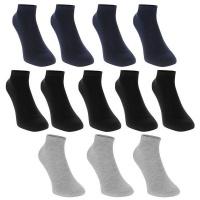 Donnay Juniors Trainer Socks 12 Pack - Dark Assorted Photo