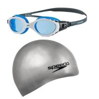 Goggles Speedo Blue & Grey Cap Photo