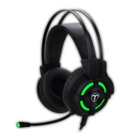 T Dagger T-Dagger Andes Green Lighting Gaming Headset w/ Gooseneck Mic - Black/Green Photo