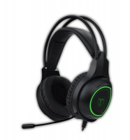 T Dagger T-Dagger Atlas Green Lighting PC Gaming Headset Gooseneck Mic - Black/Green Photo